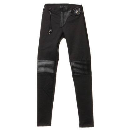 Philipp Plein Stretchbikerhose in zwart