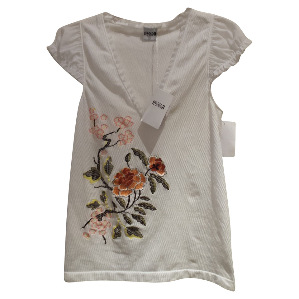 Wolford top with floral embroidery