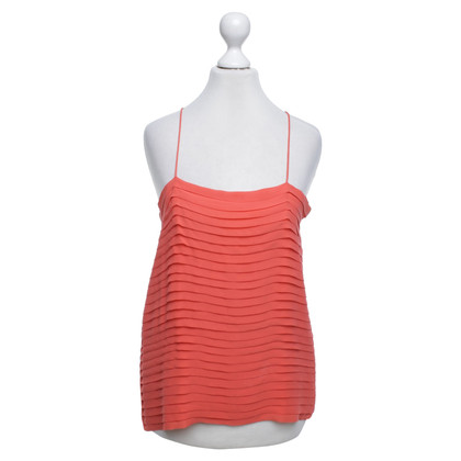 Joseph Silk-top in coral red