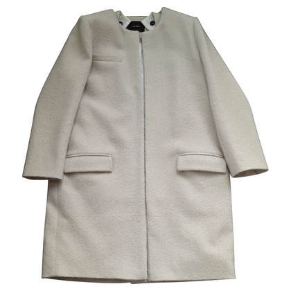 Isabel Marant Wool coat with fur trim