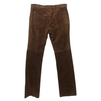 Ralph Lauren Suede broek in bruin-groene