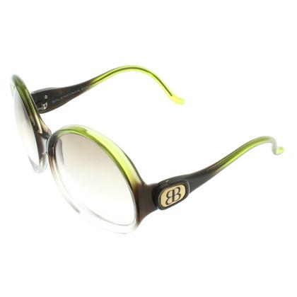 Balenciaga Sunglasses in Black / Green