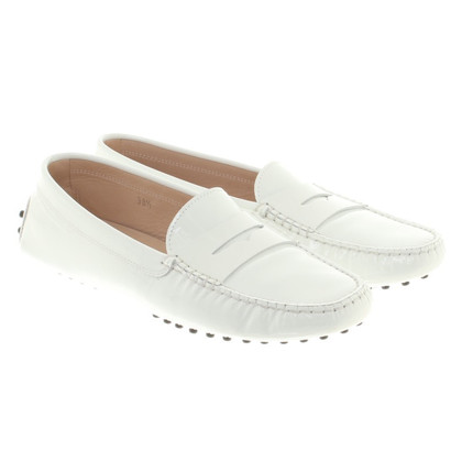 Tod's Leather slipper in white
