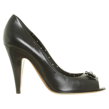 Moschino Cheap and Chic Peeptoes in Schwarz