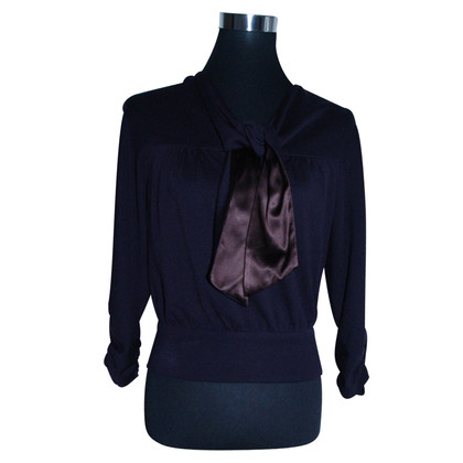 Diane von Furstenberg top with silk bow