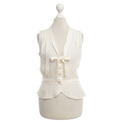 Louis Vuitton camicetta di seta beige