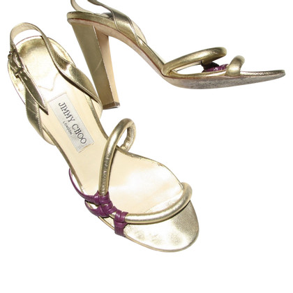 Jimmy Choo sandali color oro