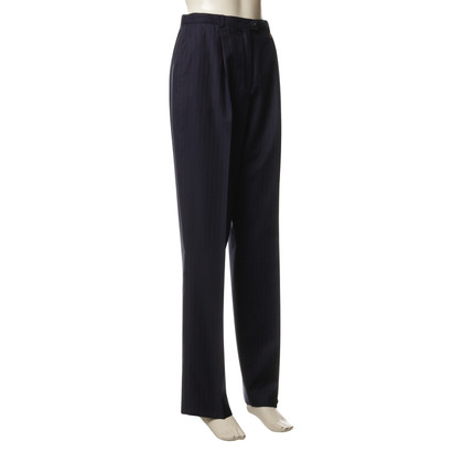 Escada Pinstripe pants in blue and Red