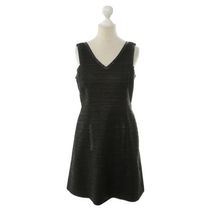 Tibi Kleid mit Lederdetails