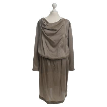 Escada Silk dress in grey-beige