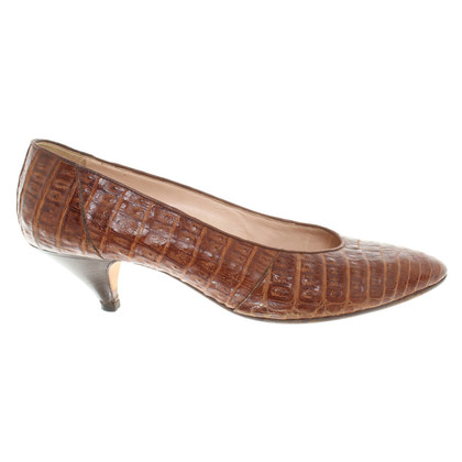Jil Sander pumps from crocodile leather