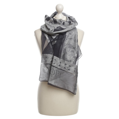 JOOP! Scarf with a Greek motif