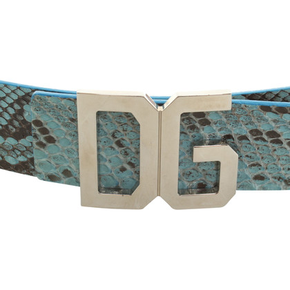 Dolce & Gabbana Turquoise colored belt of snakeskin