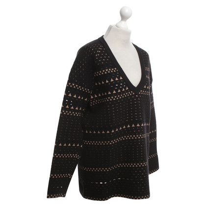 Alaïa Sweater in black / beige