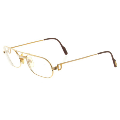 Cartier Gold colored pilot glasses