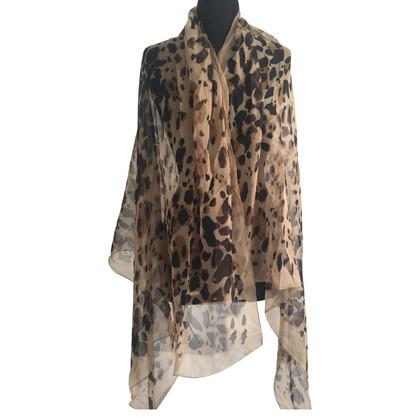 Burberry XXL silk scarf with Leoprint