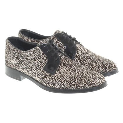 Tod's Pony fur lace-up shoes