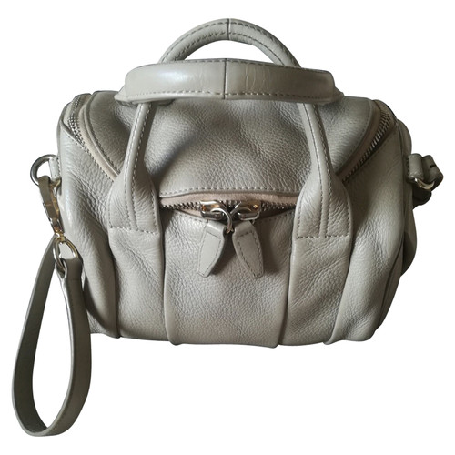 Alexander Rocco Bag Leather In Grey Second Hand