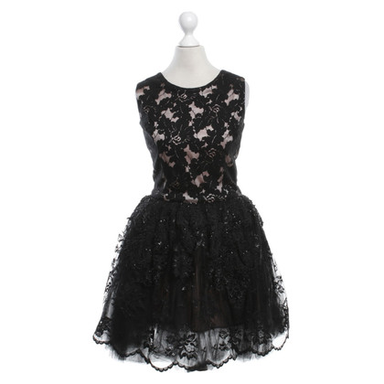 LOYD / FORD Lace dress in black / pink