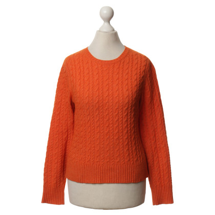 Theory Wool Sweater in Orange