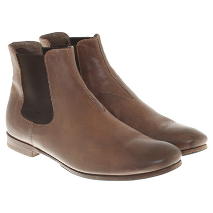 Prada Chelsea boots in brown