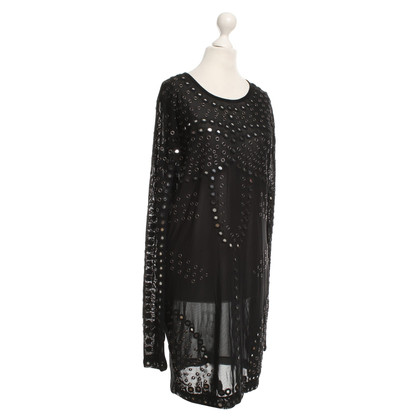 Topshop Christopher Kane for Topshop - Transparent dress in black