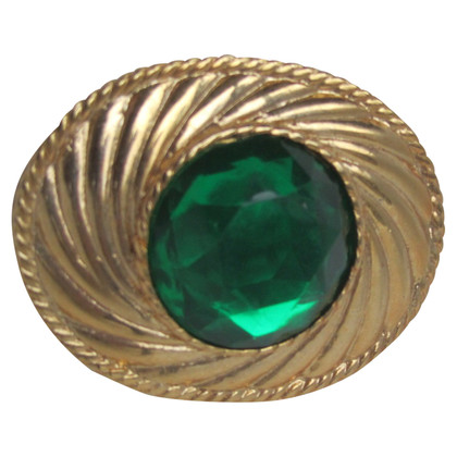 Emanuel Ungaro Gold plated brooch