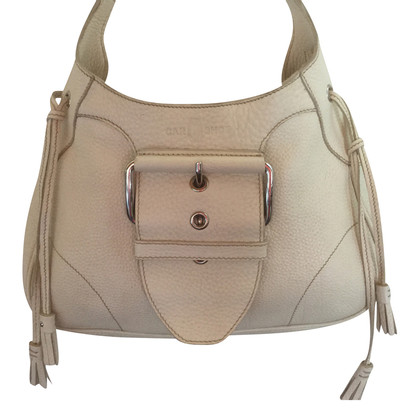 Car Shoe Handbag in beige