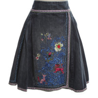 Kenzo Denim skirt with embroidery