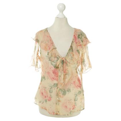 Ralph Lauren Silk blouse with a floral pattern