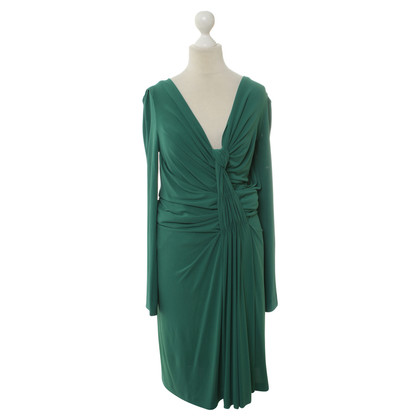 Alberta Ferretti Green dress with ruffle