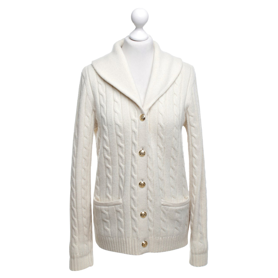 ralph lauren strickjacke in creme second hand ralph. Black Bedroom Furniture Sets. Home Design Ideas