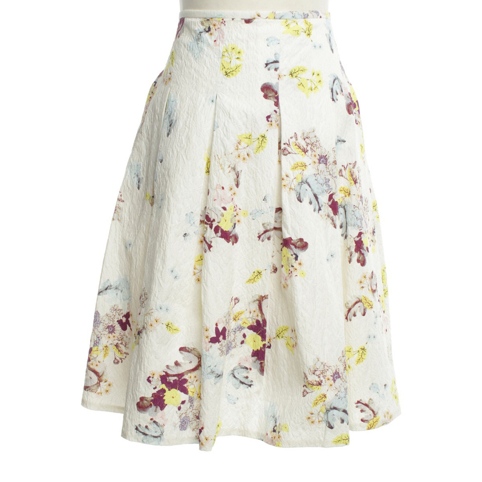 Erdem skirt with floral pattern
