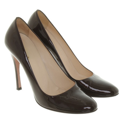 Prada Lackleder-Pumps in Bordeaux
