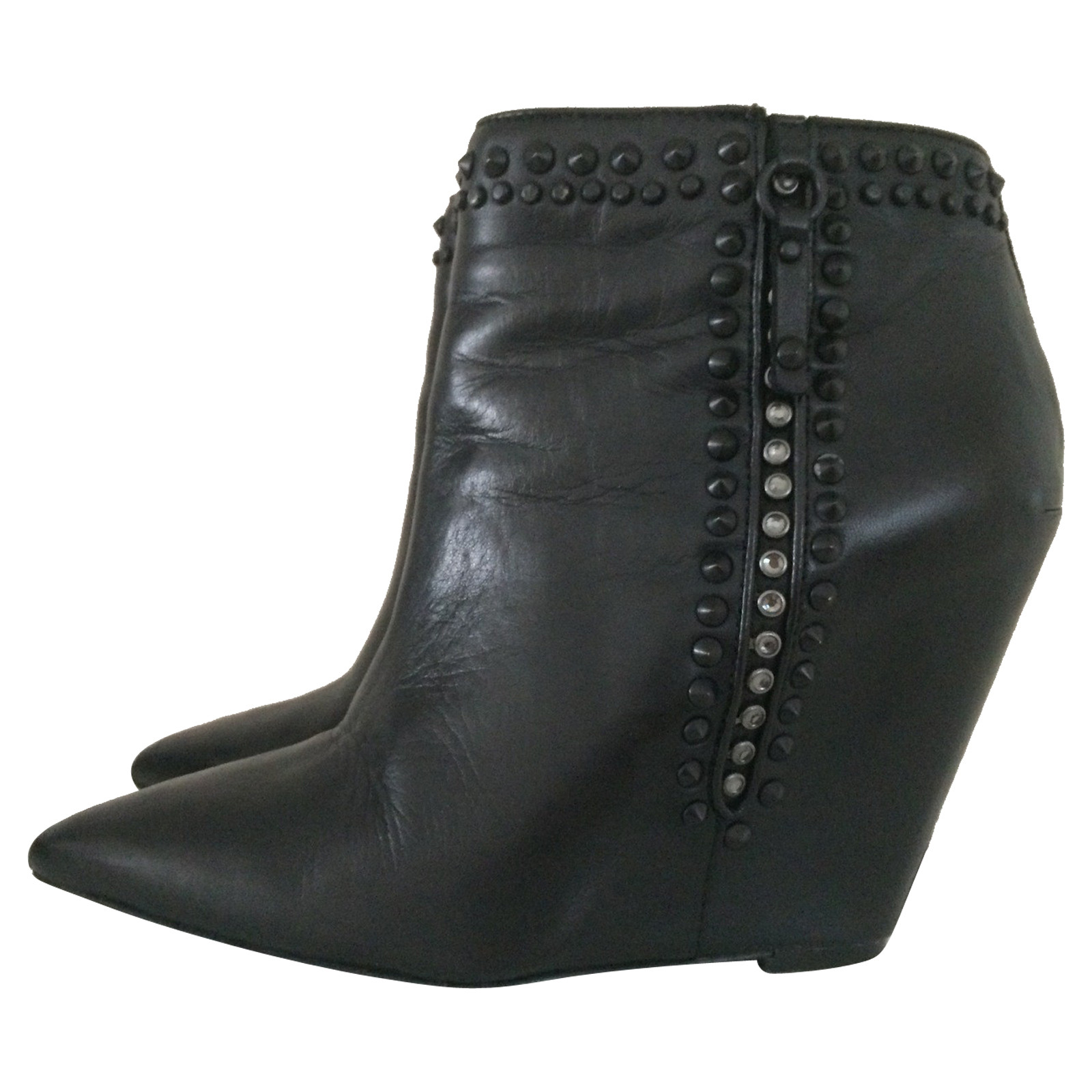 best shoes quality products uk availability Ash Ankle boots Leather in Black - Second Hand Ash Ankle ...
