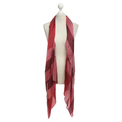 Burberry Patterned satin scarf in red