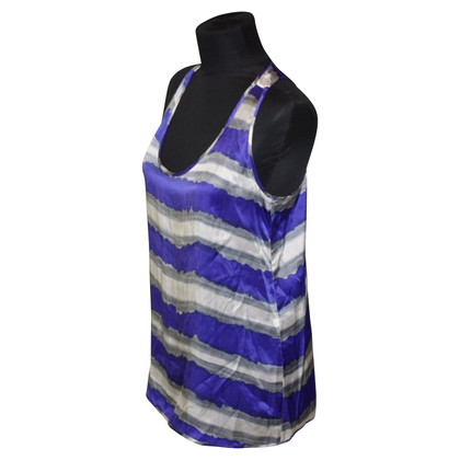 Tara Jarmon Silk top in stripe design