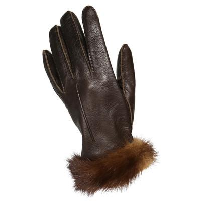 Prada Handschoenen met Nerzbesatz