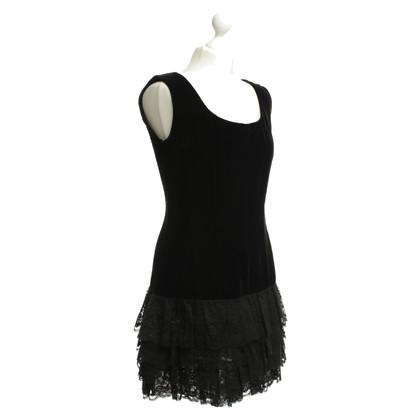 Andere merken Fluwelen jurk in zwart