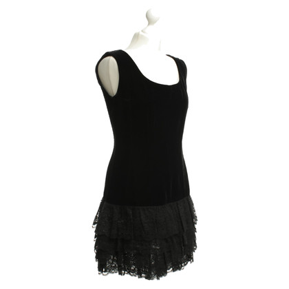 Andere Marke Samtkleid in Schwarz