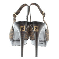 Fendi Peeptoes with pattern
