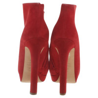Alexander McQueen Ankle boots in red