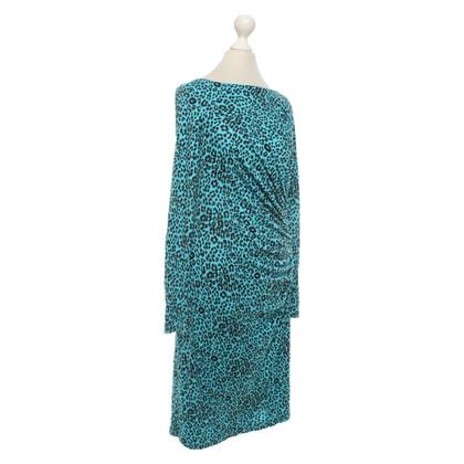 L.K. Bennett Dress in turquoise / black