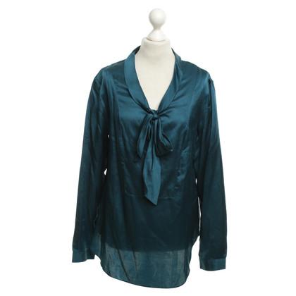 Andere merken 0039 Italy - zijden blouse in Petrol