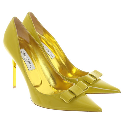 Jimmy Choo pumps in verde / oro