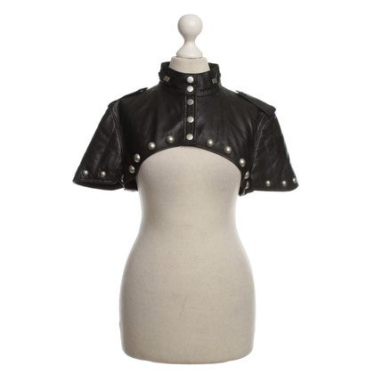 Alexander McQueen Bolero made of leather