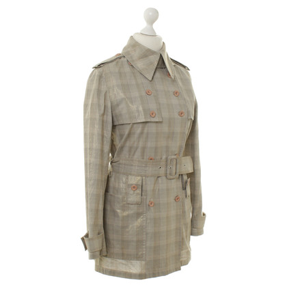 JC de Castelbajac Trench coat in ray optics