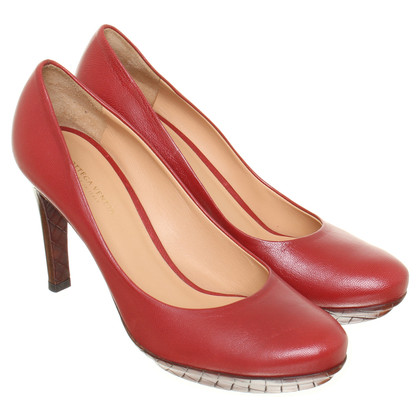 Bottega Veneta Red leather pumps