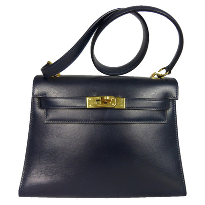 "Hermès ""Mini Kelly Bag 20"" blauw van de middernacht"