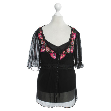 John Galliano blouse zwart